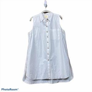 Anthropologie Maeve white sleeveless tunic top
